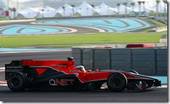Jerome D'Ambrosio al volante della Virgin nelle prove libere di Abu Dhabi