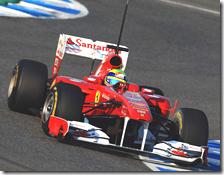 Massa ha segnato il miglior tempo nella prima giornata di test a Jerez