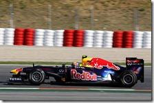 Webber nelle prove libere del gran premio di Spagna 2011