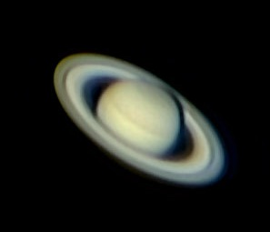 Amateur astrophoto of Saturn by Rochus Hess