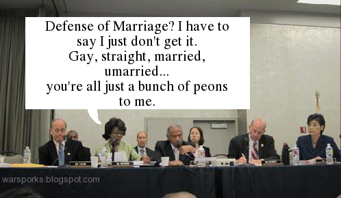 Maxine Waters proclaims marriage all a moot point.