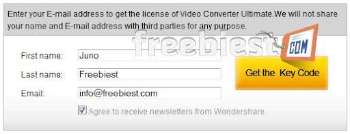 Wondershare Video Converter Registration