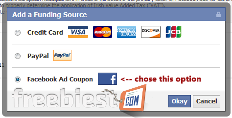 Free $50 Facebook Ads Voucher Coupon Code