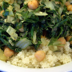 Spinach and Chickpeas With Couscous