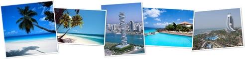 Exibir Dubai e Cancun