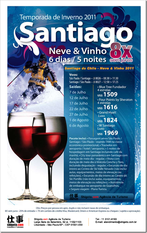 santiago do chile - neve e vinho