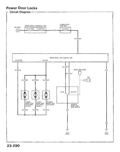 eg6 power lock wiring diagram and alarm install information honda rh honda tech com central door lock wiring diagram electromagnetic door lock wiring diagram