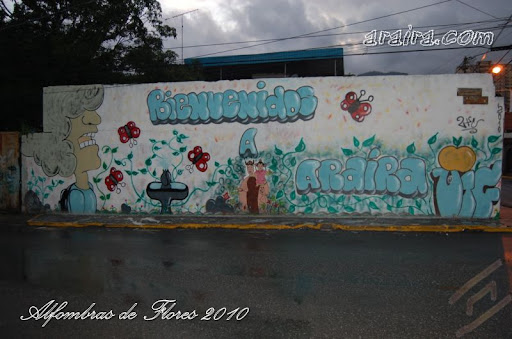 Mural Bienvenidos a Araira