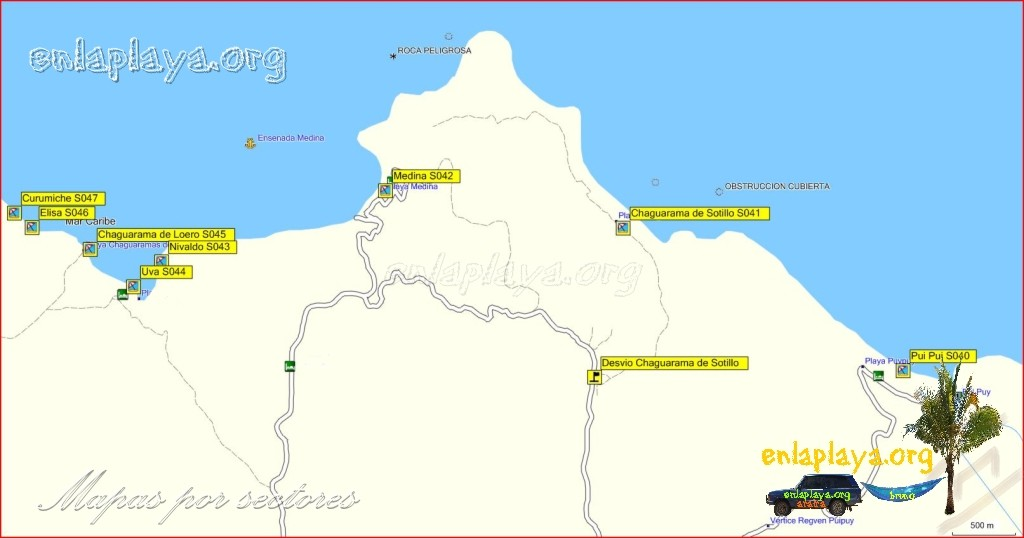 Playa Medina - Playas desde Curumiche hasta Pui Pui