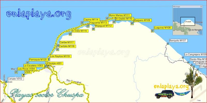 Chuspa - Playas desde Mazparo hasta Los Ricos