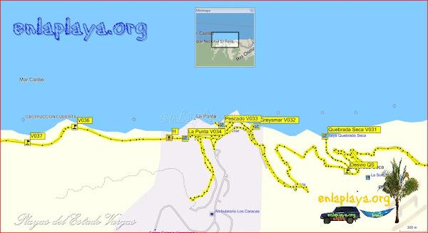 Playas desde Quebrada Seca hasta La Punta