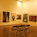 群青アート展。後輩の作品もこちらに展示。