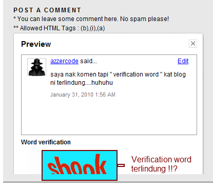 verication word terlindung