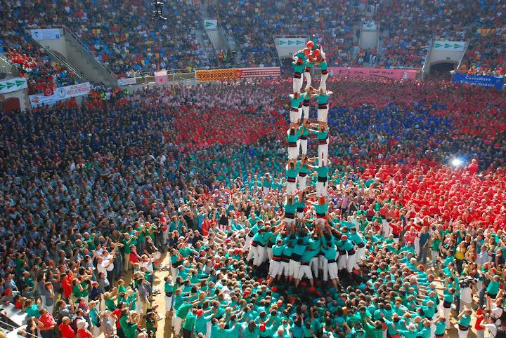 castellers de vilafranca 5 de 9 amb folre concurs tarragona 2010