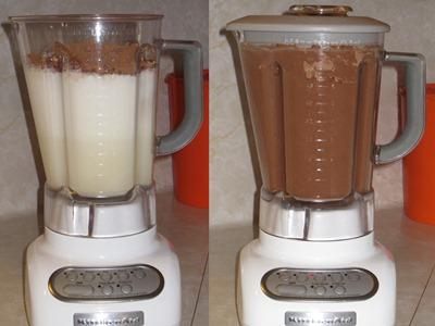Mixture in blender