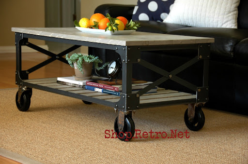 Brooklyn Coffee Table, Vintage 40s French Industrial Inspired Design,  Http://shop