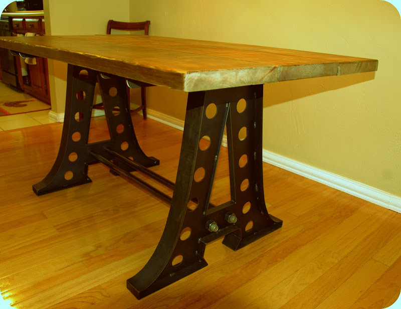 Vintage Industrial Dining Room Table. Vintage Industrial Dining Table  Furniture