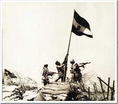 علم مصر على الجبهة