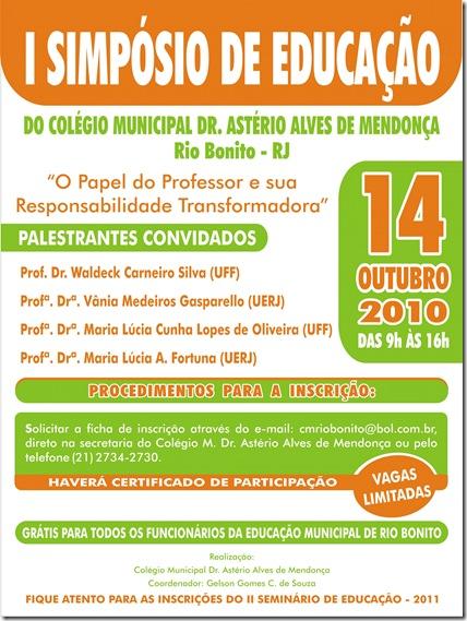I simposio de educacao - Colegio Municipal