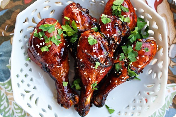 sweet sticky chicken drumsticks