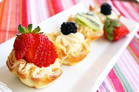 Fresh Fruit Phyllo Tartlettes
