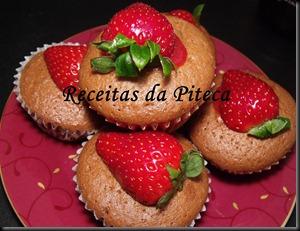 Cupcakes de chocolate e morango 1