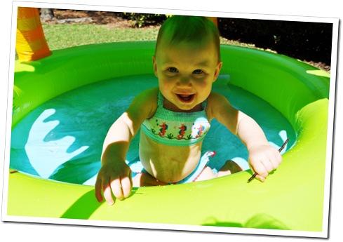 smile in pool