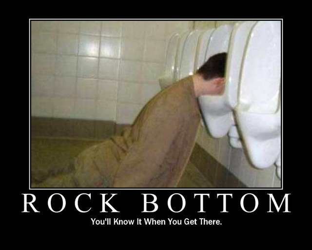 rock bottom motivational poster