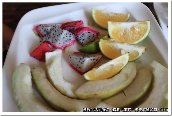 樺榮海鮮餐廳,爛爛的水果