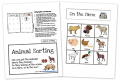 Animal Sorting Game Collage