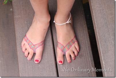 Sharpie flip flops
