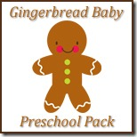 Gingerbread Baby Preschool Pack Button