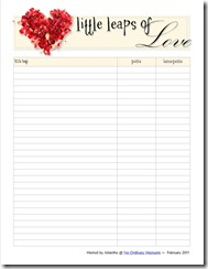 Little Leaps of Love Point Tracker