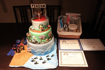Triathlon Cake: Awards5