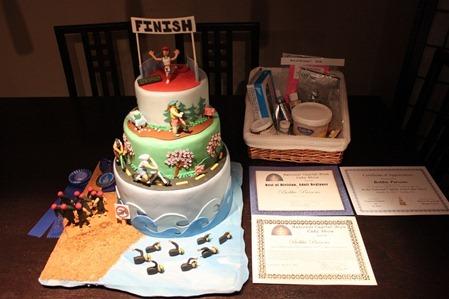 Triathlon Cake: Awards5