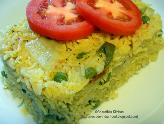 Peas Rice Recipe with spices