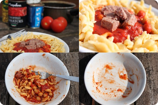 collage of pasta