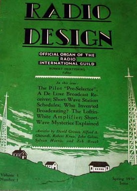 Radio Design magazine cover, 1930