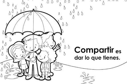 Dibujo sobre la solidaridad para colorear - Imagui