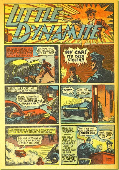 1940 cartoon automobiles and policemen in rare vintage comic book_1