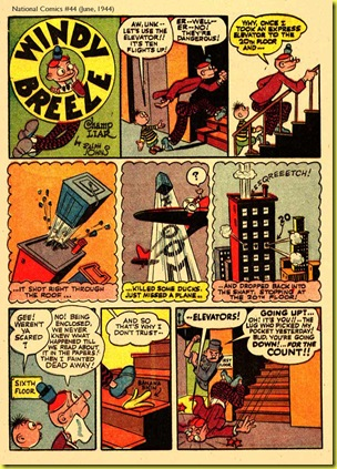 Rare old back issue comic book page from National Comics by Quality Publications 1940s