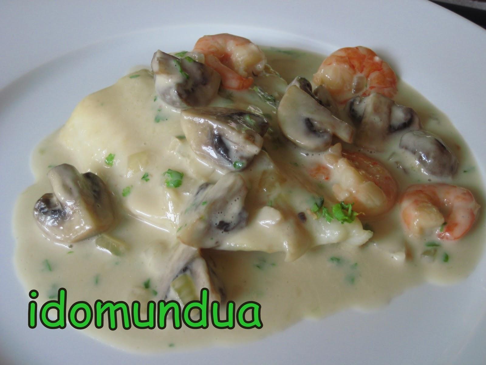 Como Cocinar Panga | Idomundua Panga Con Champinones Y Gambas