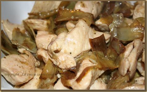 bocconcini di pollo al marsala e carciofi2