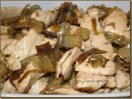 bocconcini di pollo al marsala e carciofi1
