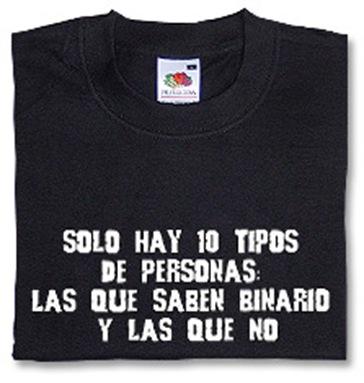 Camiseta binaria