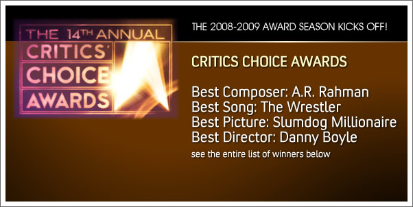 Critics Choice Award Winners for 2008