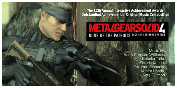 Metal Gear Solid 4:  Guns of the Patriots Takes Home AIAS Award for Oustanding Achievment in Original Composition