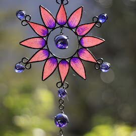 Wind Chime by Dallas Kempfle - Artistic Objects Glass ( wind, purple, windchime, marbles, glass, pink, bokeh )