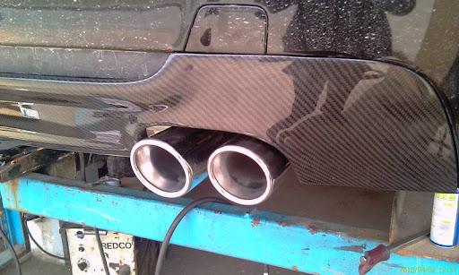 My E93 330i M-tech Exhaust Mod