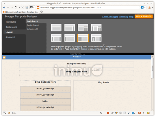 Screenshot Blogger Template Designer 03